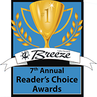 Lake Oconee Breeze Reader's Choice Award Winner